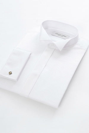 David Latimer-Dress Shirt With Wing Collar