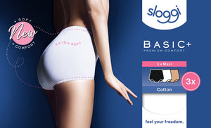Sloggi-Basics+ Maxi Briefs 3 Pair Pack