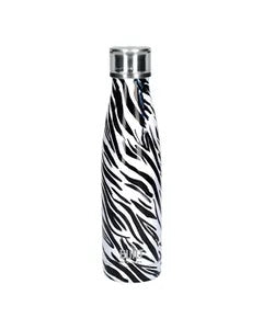 Kitchencraft-Built P500ml Double Walled Stainless Steel Water Bottle Zebra | Eve & Ranshaw