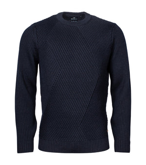 Baileys-Crew Neck Pullover Night Blue | Eve & Ranshaw