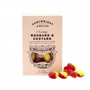 Cartwright & Butler-Rhubarb & Custard Sweets Carton | Eve & Ranshaw