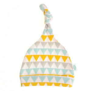 Ziggle-Gold, Silver And Teal Geo Triangles Hat | Eve & Ranshaw