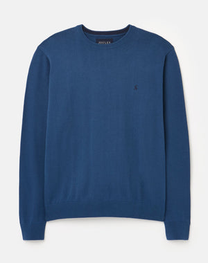 Joules-Jarvis Crew Neck Jumper Estate Blue | Eve & Ranshaw