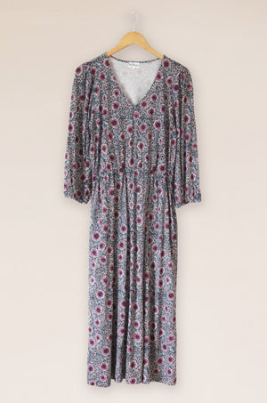 Mistral-Multi Daisy Block Printed Dress | Eve & Ranshaw