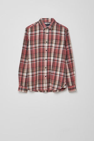 French Connection-Long Sleeve Shirt-Brushed Cotton- Pink Multi | Eve & Ranshaw