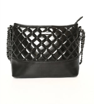 Gionni-Double Chain Strap Large Body Bag Black | Eve & Ranshaw