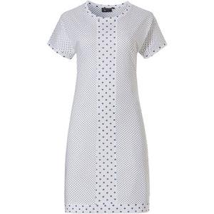Pastunette-Luxe Blue/White Spot Nightdress | Eve & Ranshaw