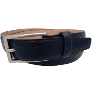 Sophos-Croc Full Grain Leather Belt | Eve & Ranshaw