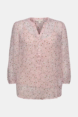 Esprit-Crinkle Blouse, Woven Long Sleeve, Nude | Eve & Ranshaw