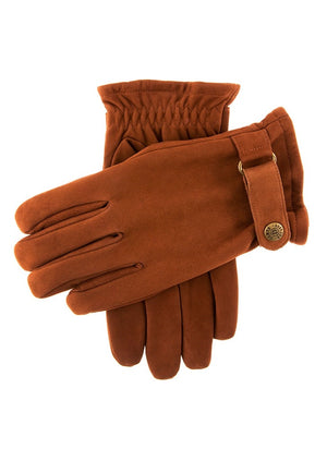 Dents-Mens Nubuck Elasticated Wrist Gloves | Eve & Ranshaw