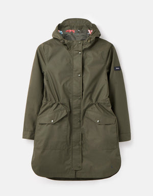 Joules-Loxley Longline Waterproof Jacket Grape Leaf | Eve & Ranshaw