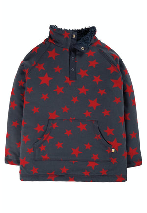 Frugi-Indigo Scattered Star Snuggle Fleece | Eve & Ranshaw