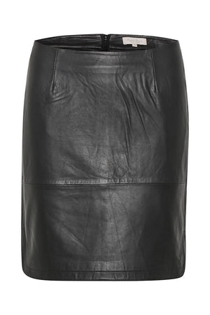 Part Two-Black Leather Ursanas Skirt | Eve & Ranshaw