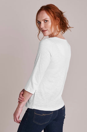 Mistral-White Basic Ladder Insert T Shirt | Eve & Ranshaw