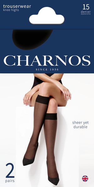 Charnos-15 Denier Knee Highs 2 Pack | Eve & Ranshaw