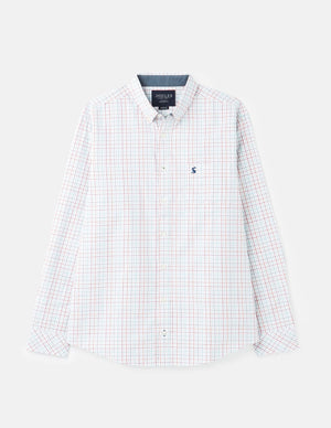 Joules-Welford Classic Fit Long Sleeve Check Shirt White Multi Check | Eve & Ranshaw