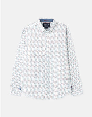 Joules-Invitation Classic Fit Printed Shirt White Mallard | Eve & Ranshaw