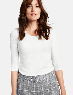 Gerry Weber-Off White 3/4 Sleeve Top | Eve & Ranshaw