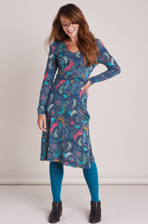 Mistral-Multi Crazy Catherine Ruched Dress | Eve & Ranshaw