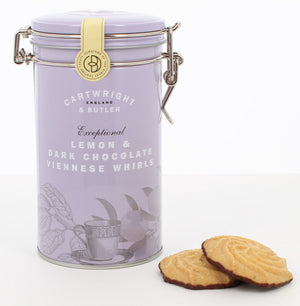 Cartwright & Butler-Lemon & Dark Chocolate Viennese Whirls Tin | Eve & Ranshaw