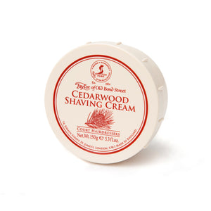 Taylor Of Old Bond Street-Cedarwood Shaving Cream 150G | Eve & Ranshaw