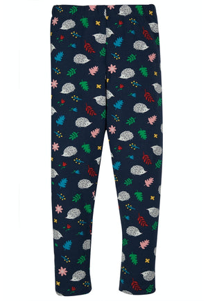 Frugi-Libby Printed Leggings Hedgehog | Eve & Ranshaw