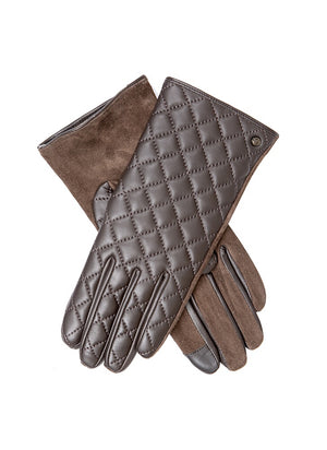 Dents- Touch Screen Ladies Gloves With Quilted Hairsheep Back