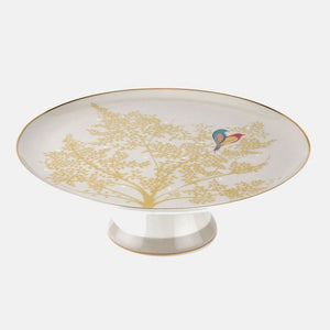 Sara Miller-Chelsea Collection Light Grey Footed Cake Stand | Eve & Ranshaw
