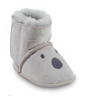Just Sheepskin-Babies Sidney Bootie, Light Grey | Eve & Ranshaw