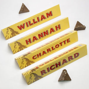 Toblerone-Personalised Chocolate Bar | Eve & Ranshaw