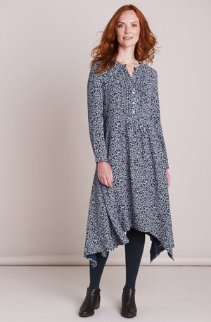 Mistral-Navy Under the Ivy Hanky Hem Dress | Eve & Ranshaw