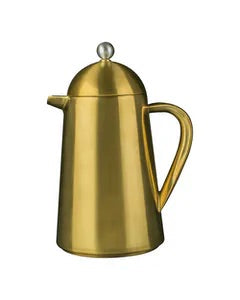 La Cafetiere-Edited Thermique Double Walled 8 Cup Cafetiere Brushed Gold | Eve & Ranshaw