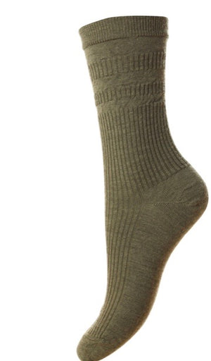 Hj Hall-Ladies Wool Soft Top Socks | Eve & Ranshaw