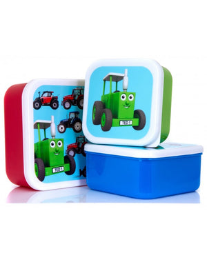 Tractor Ted-Digger Snack Pots (Set Of 3) | Eve & Ranshaw