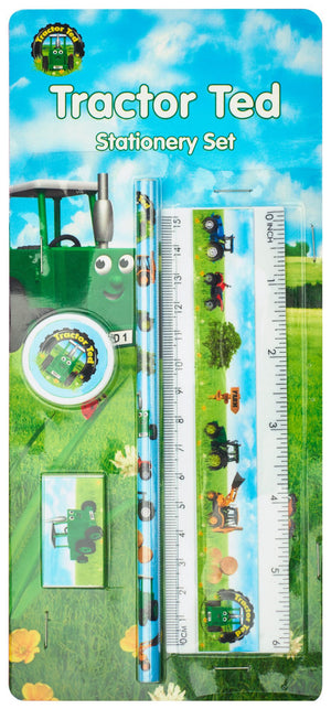 Tractor Ted-4 Piece Stationery Set | Eve & Ranshaw