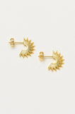 Estella Bartlett-Gold Plated Sunburst Hoop Earings | Eve & Ranshaw
