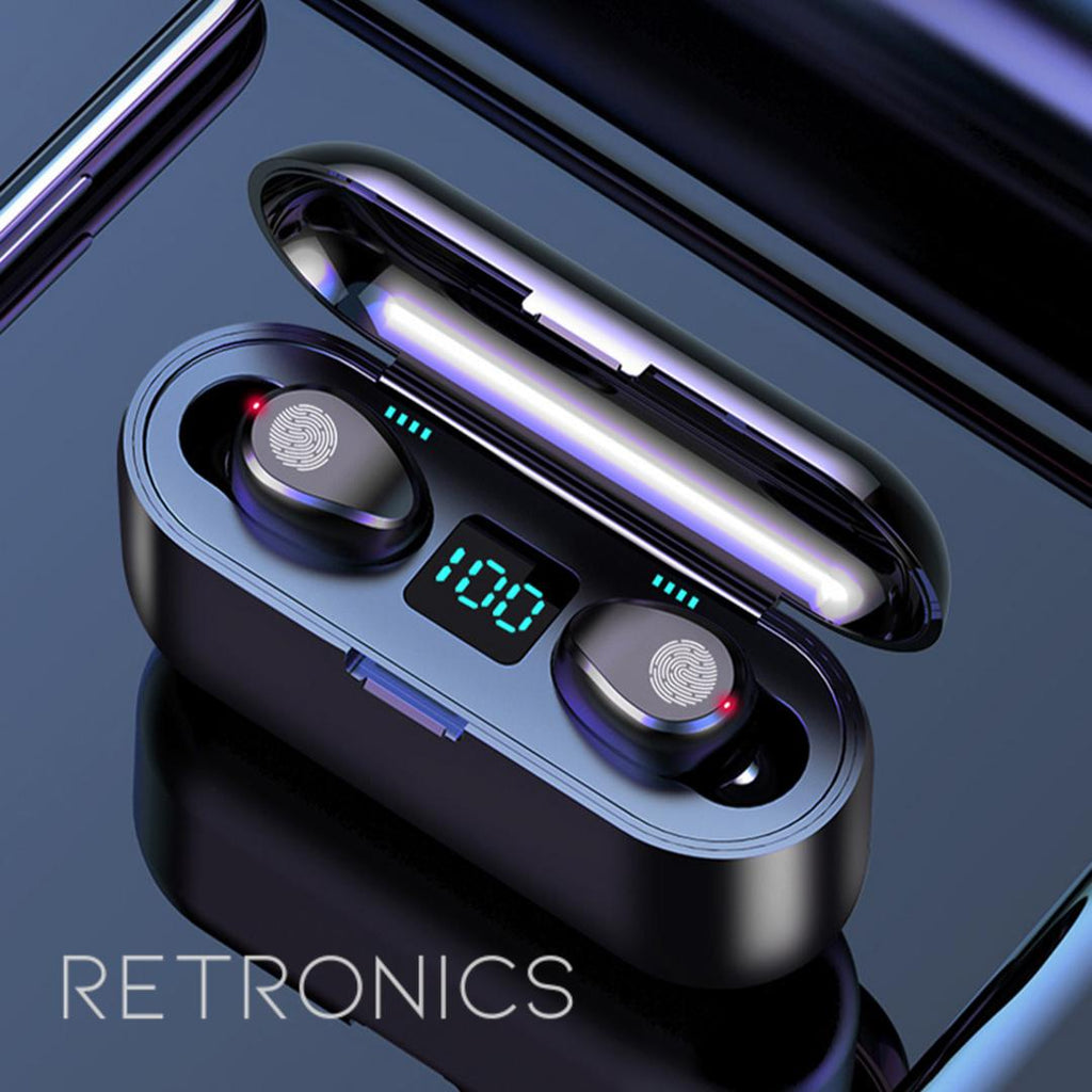 Upgraded Wireless Earbuds LED Display-Audio-Retronics-Best budget earbuds-earphone-headphone-audio-clear sound