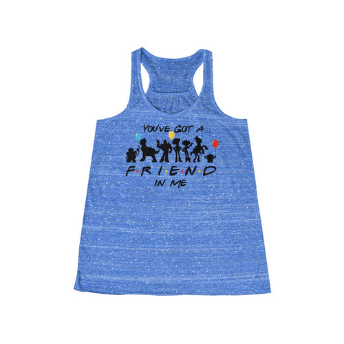 Friend in Me Women's Flowy Racerback Tank