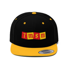 Load image into Gallery viewer, TMSM Embroidered Logo Unisex Flat Bill Hat