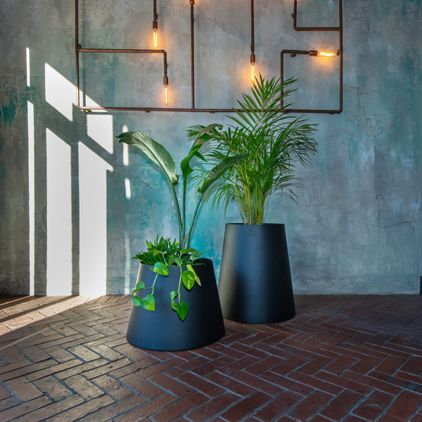 Plantr Planters & pot plants Johannesburg Custom Office Pot Plants Steel Conica round stainless