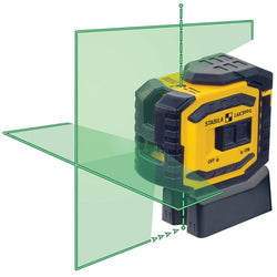 Stabila 03185 LAX300G Green Beam Cross Line Plus Plumb Dots Laser Level - wise-line-tools