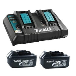Makita T-03252X  -  18V Dual Port Rapid Charger with 2 3.0Ah