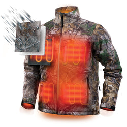 Milwaukee 221C-21L - M12 Camo Heated Jacket Kit - Large - wise-line-tools