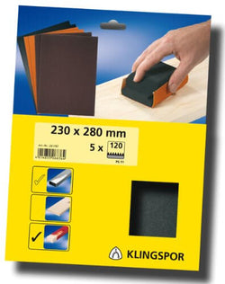 "9' x 11"" 120 grit Sanding Sheet 5 pack - wise-line-tools"