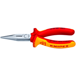 "Knipex 2508160 Sba Chain Needle Nose Side Cutting Serrated Jaw Pliers 6-1/4"" - wise-line-tools"