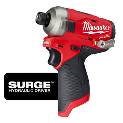 "Milwaukee 2551-20 - M12 FUEL™ SURGE™ 1/4"" Hex Hydraulic Driver - Wise Line Tools"