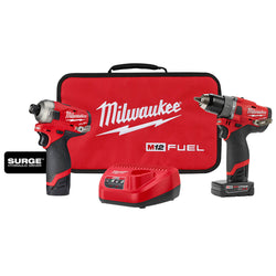 Milwaukee 2582-22 - M12 FUEL™ SURGE™ HDD 2-PC Combo Kit - Wise Line Tools