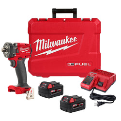 "Milwaukee 2855P-22  -  M18 Fuel 1/2"" Compact Impact Wrench - Pin Detent - Kit"