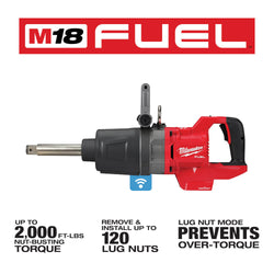 "Milwaukee 2869-20 - M18 FUEL™ 1"" D-Handle Ext. Anvil High Torque Impact Wrench w/ ONE-KEY™"