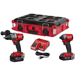 Milwaukee 2997-22CXPOC  M18 FUEL™ 2-Tool Combo Kit With PACKOUT CASE - wise-line-tools